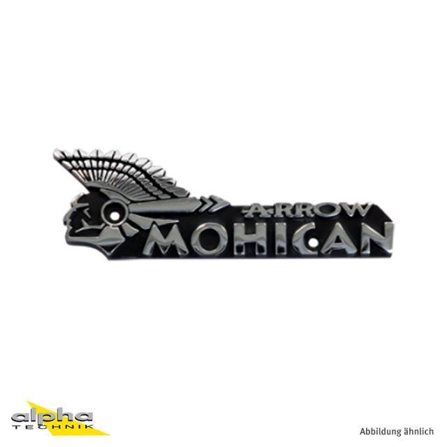 ARROW Logo-Schild für MOHICAN Auspuff satiniert linke Seite