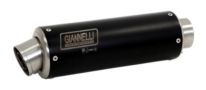 GIANNELLI Auspuff X-PRO BLACK für Kawasaki Versys 650 2015-18 / ER-6 2012-16 aus Edelstahl