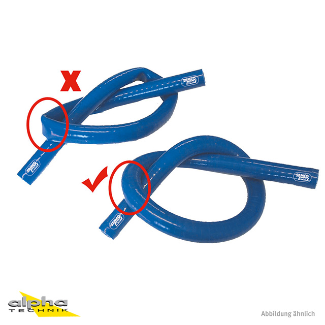 Siliconschlauch Xtraflex blau 16 mm, länge 1m