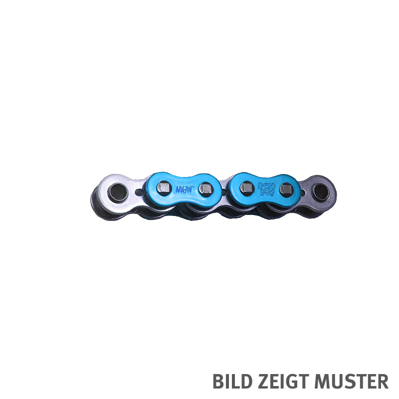 Kette ENUMA MVXZ-2 525, ideale OEM-Ersatzkette - 98 Glieder - Farbe Blau metallic