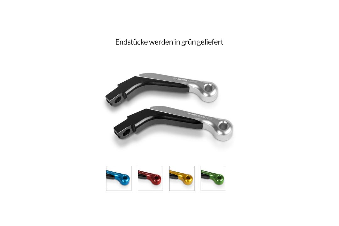 Barracuda Aluminium Hebel-Endstücke grün eloxiert (Paar) passend auf Barracuda Brems- und Kupplungshebel