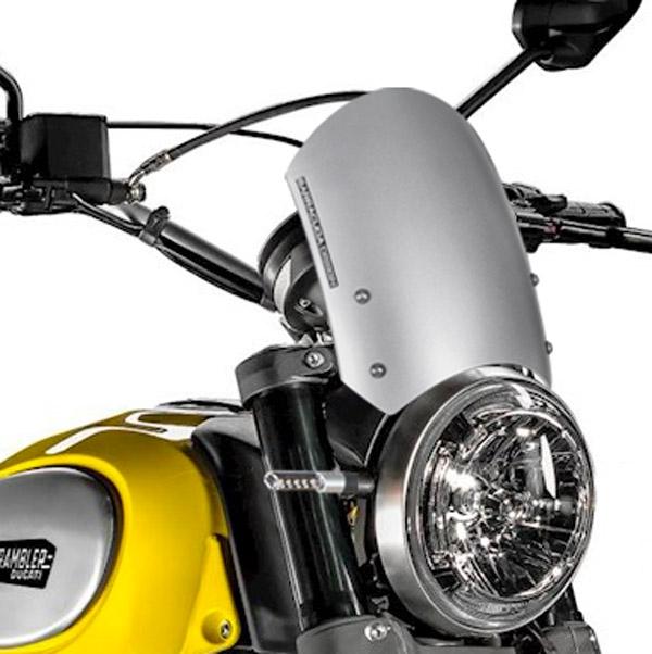 Barracuda Windschild Aerosport Aluminium Silber für Ducati Scrambler (2015 - 2017)