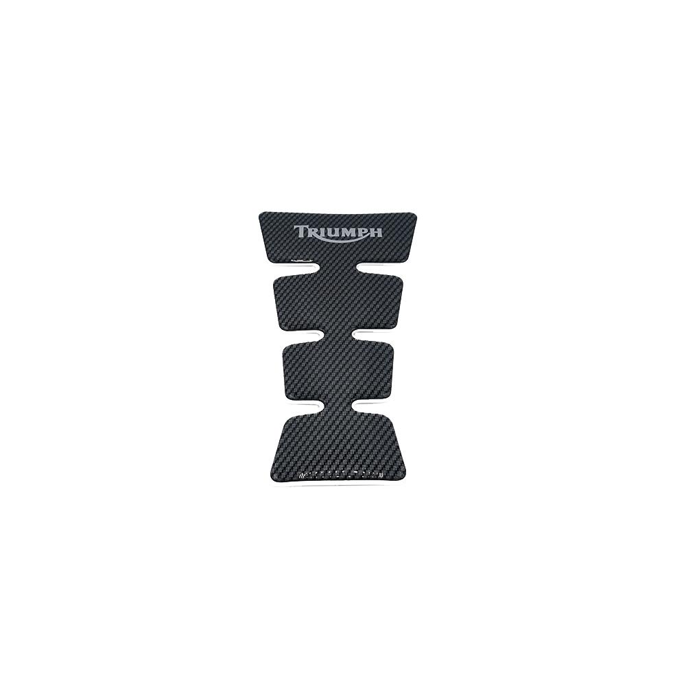 Tankpad, Carbon/silber, groß, TRIUMPH