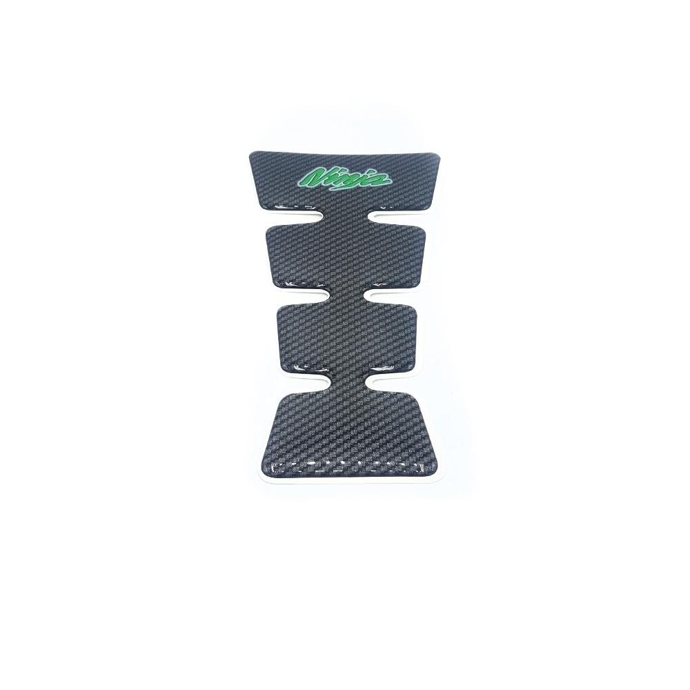 Tankpad, Carbon/grün, groß, Kawasaki Ninja