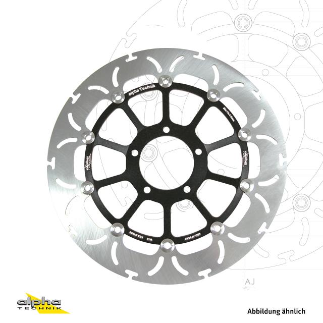 alpha Technik Bremsscheibe ABD33 vorne schwarz