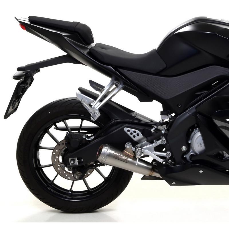 ARROW Pro-Race Dämpfer Yamaha YZF-R125 17- Edelst