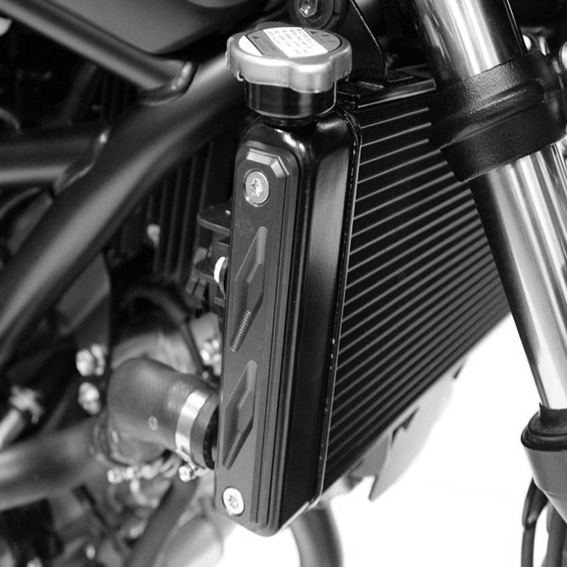 Gilles Kühlerabdeckungs-KIT, schwarz, Suzuki SV650