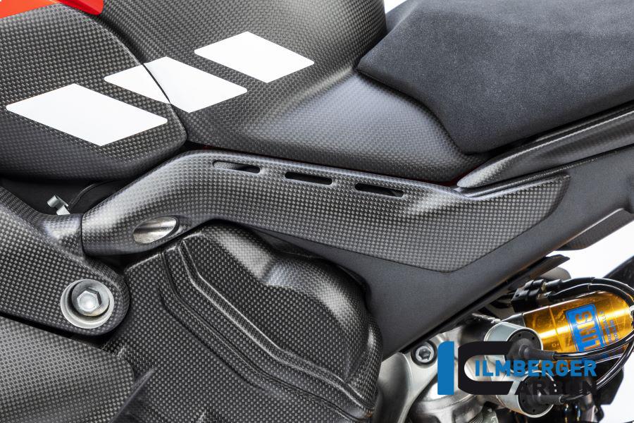 Ilmberger Carbon Abdeckung am Rahmenheck links matt für Ducati Panigale V4 / V4S ab 2018