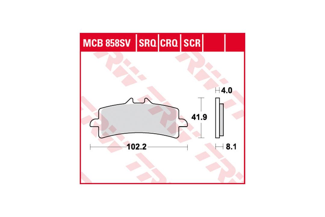 TRW LUCAS Bremsbelagsatz Sinter Road & Track MCB858SRT