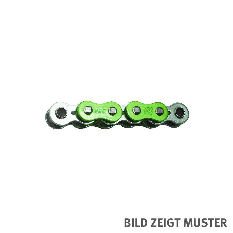 Kette ENUMA MVXZ-2 525, ideale OEM-Ersatzkette - 118 Glieder - Farbe Grün metallic