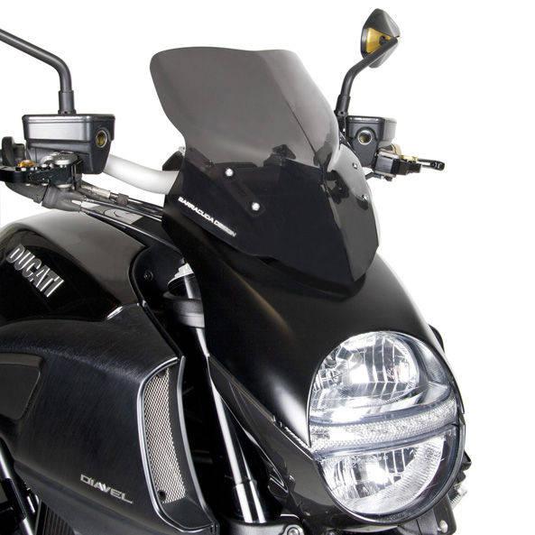 Barracuda Windschild Aerosport Plexiglas für Ducati Diavel 2010-2013