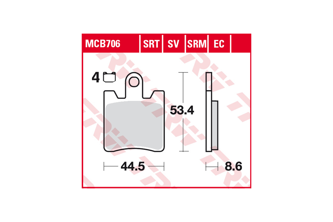 TRW LUCAS Bremsbelagsatz Sinter Road & Track MCB706SRT