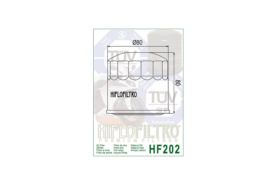 HIFLO Ölfilter HF202 für diverse Honda Modelle / Kawasaki VN750 Vulcan und GPZ500S