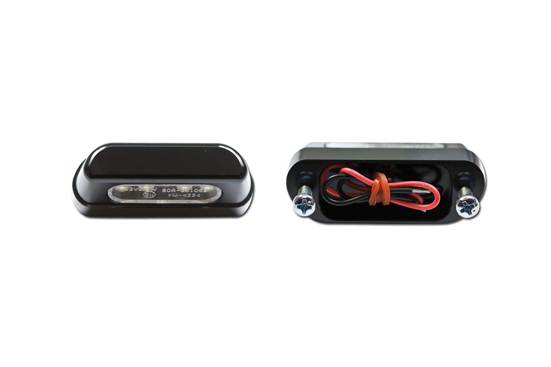 """LED-Kennzeichenbeleuchtung """"Zest"""" aus Aluminium schwarz mit E-Prüfzeichen"""