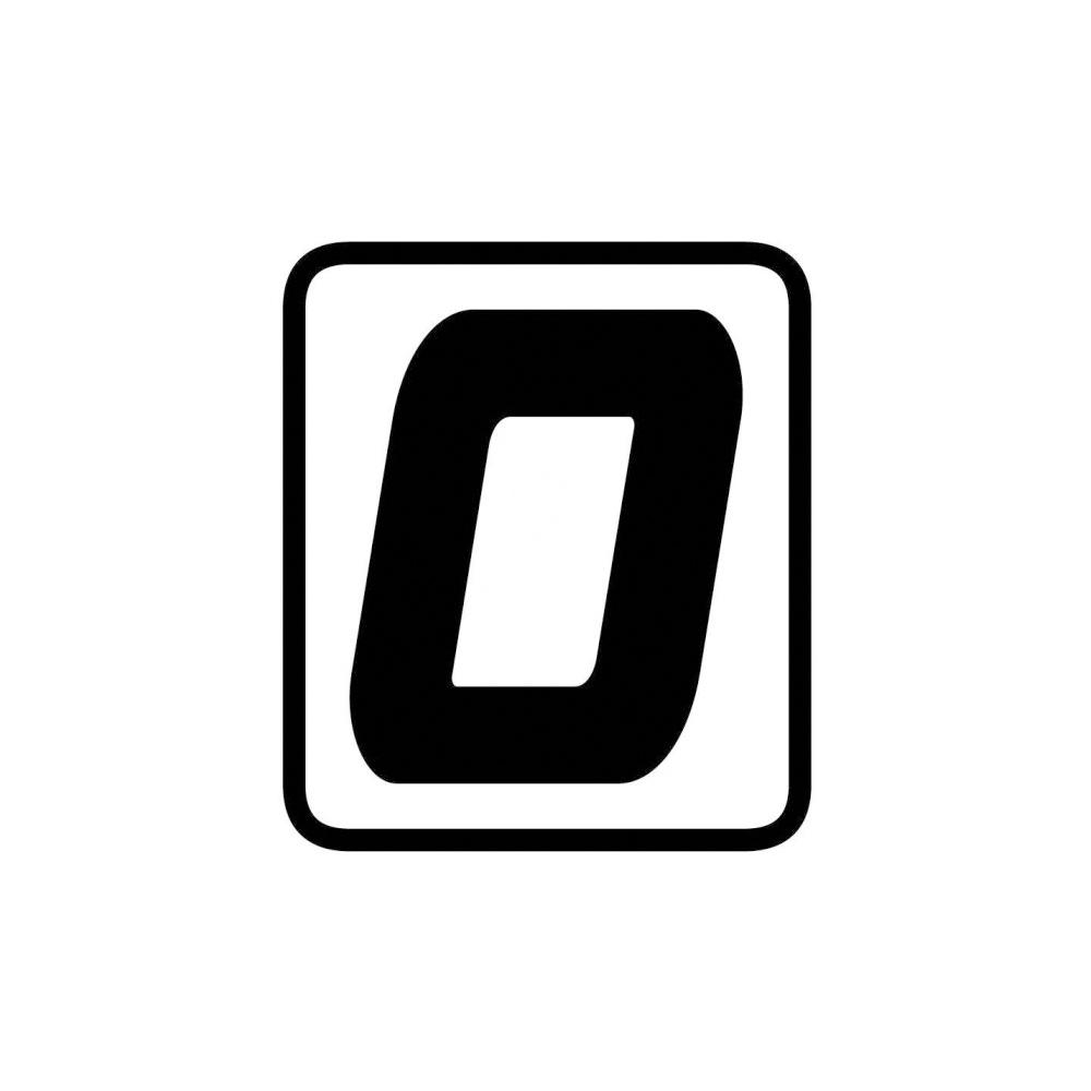 "Barracuda Startnummern Aufkleber ""0"""