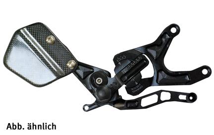 GILLES VCRFußrastenanlage KTM1290Superduke schwarz