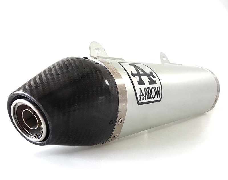 ARROW Auspuff THUNDER für UM DSR125EX / Aprilia RX125 / SX125 2018- Aluminium