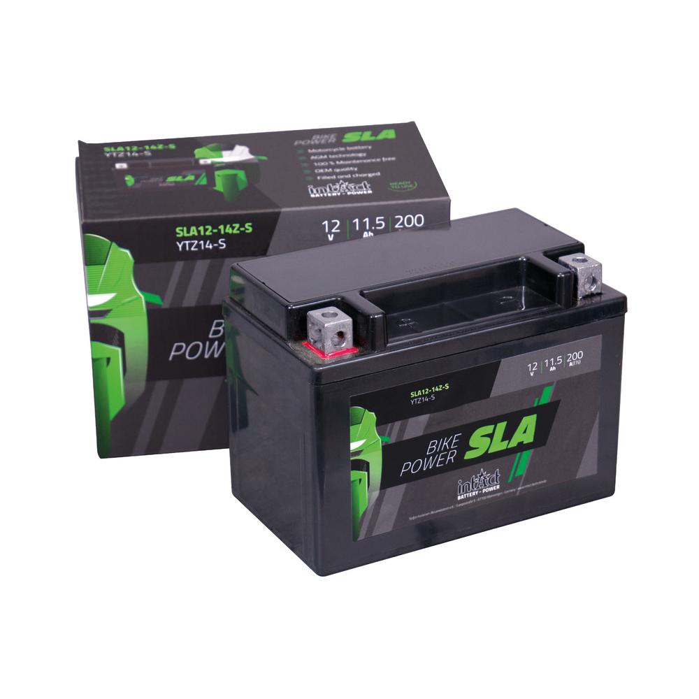 Intact verschlossene AGM Batterie YTX14-BS