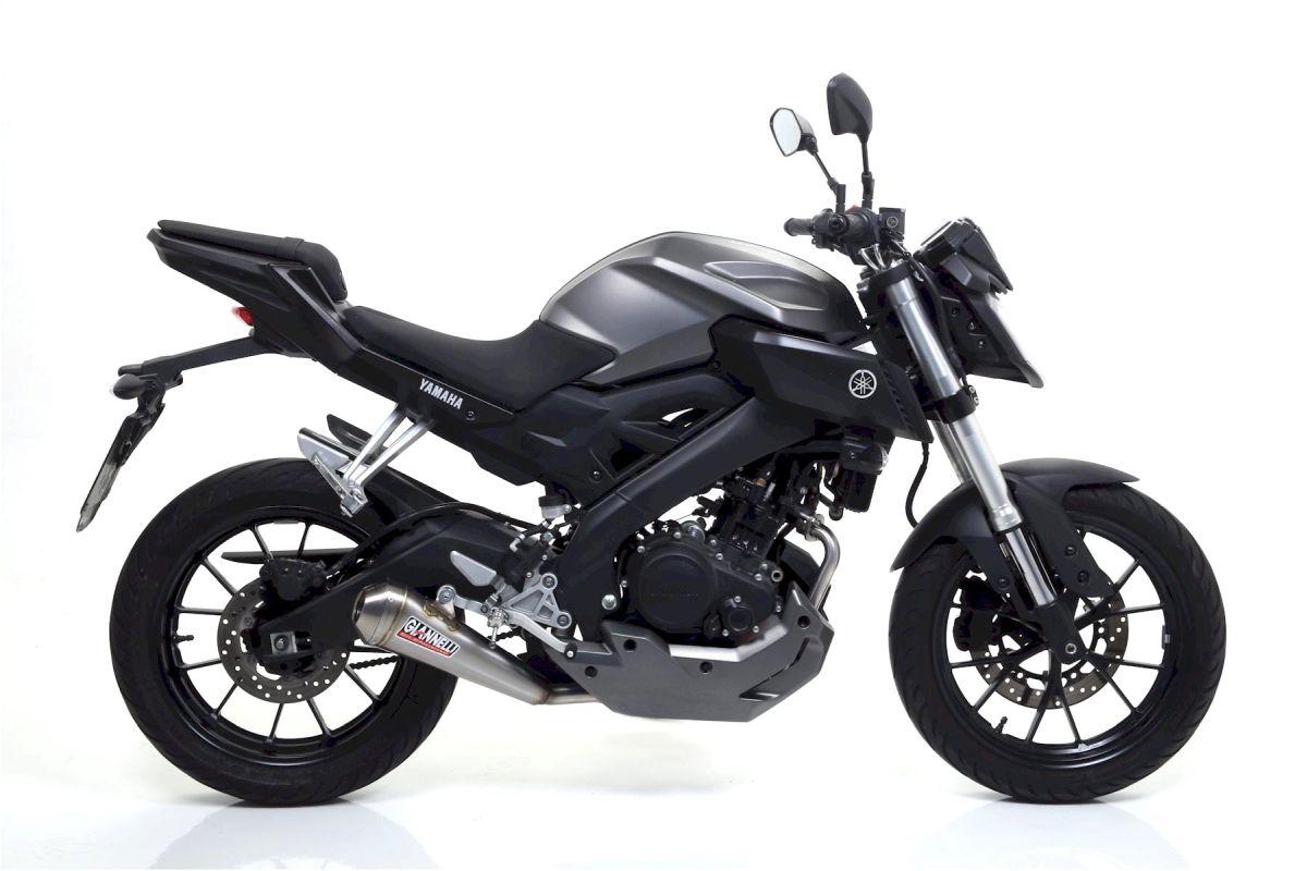 GIANNELLI Komplettanlage mit GX-ONE Auspuff für Yamaha MT125 2014-16 aus Edelstahl