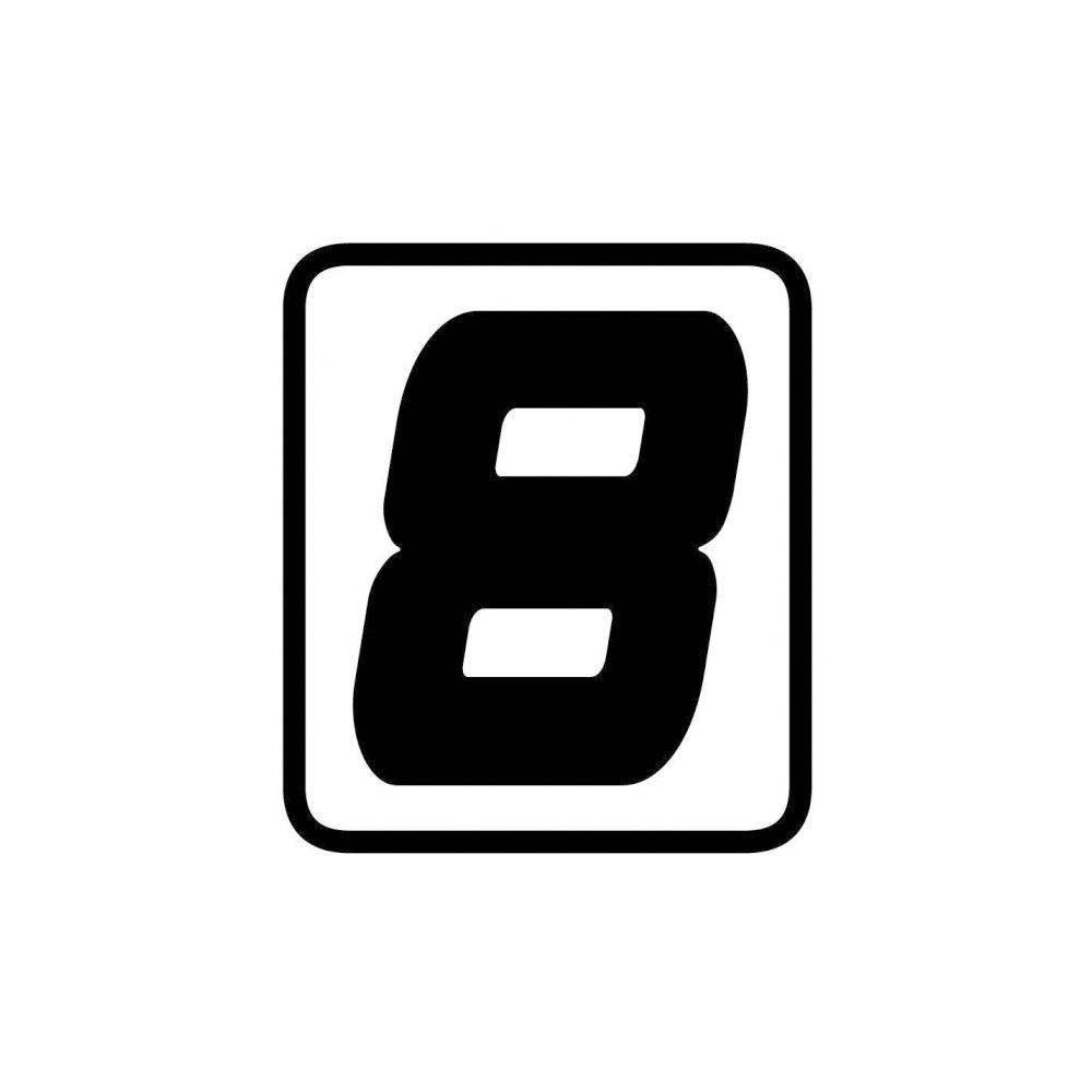 "Barracuda Startnummern Aufkleber ""8"""