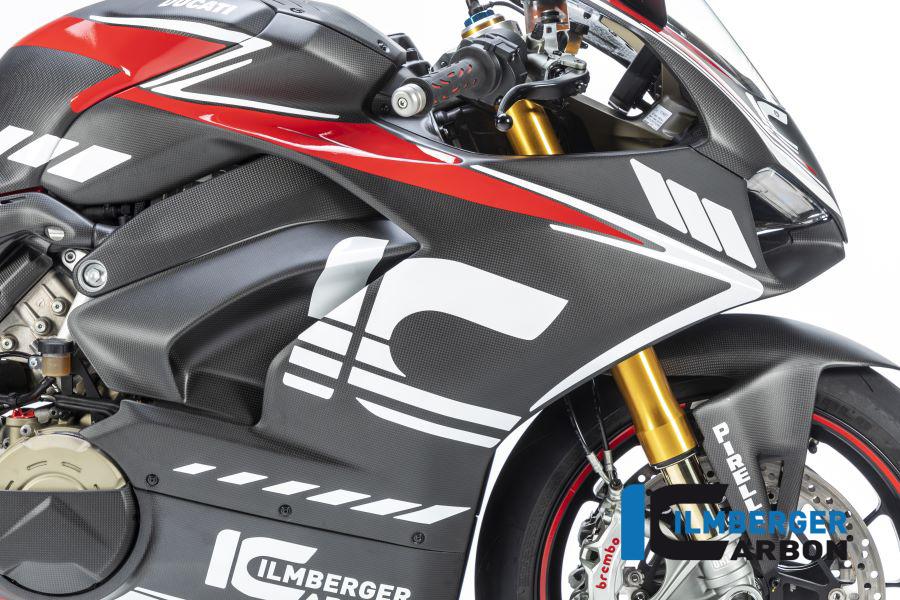 Ilmberger Carbon Verkleidungsseitenteil rechts matt für Ducati Panigale V4 / V4S ab 2018