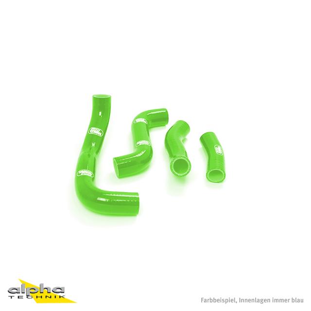 Siliconschlauch Kit grün für Kawasaki ZRX1100/1200