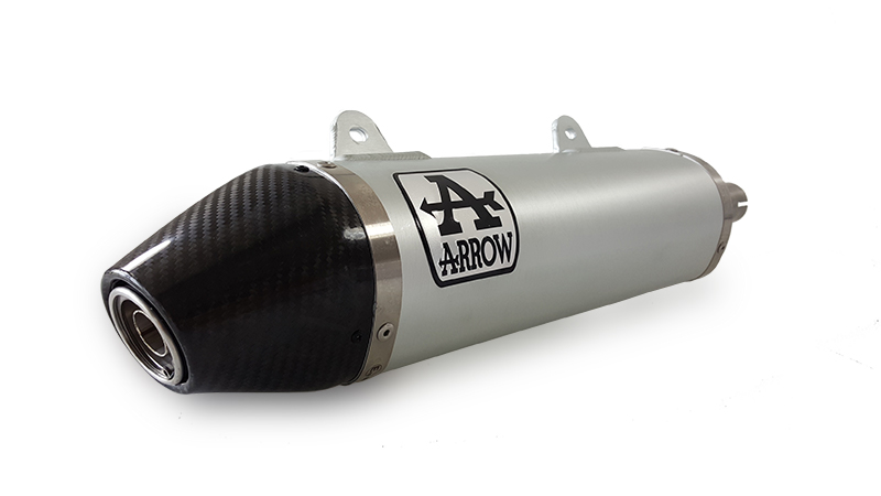 ARROW Auspuff THUNDER für UM DSR125EX / Aprilia RX125 / SX125 2018- Titan