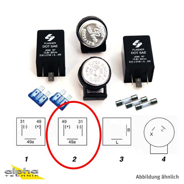 Blinker Relais 12V 2 (4) x 21W + 0 bis 4W