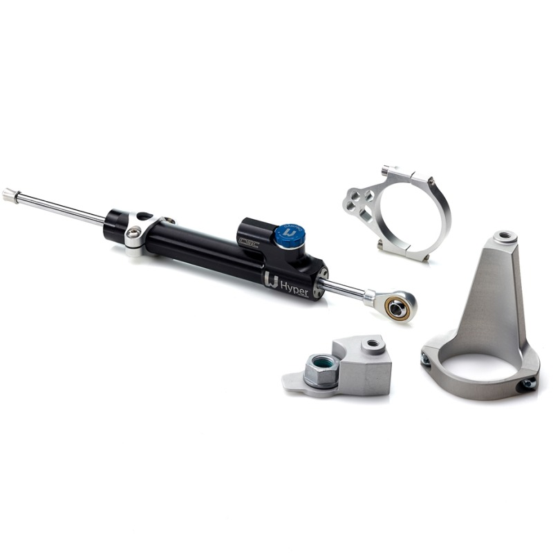 Lenkungsdämpfer mit fahrzeugspezifischen Anbaukit für KAWASAKI ZRX 1200 N/R/S 01>