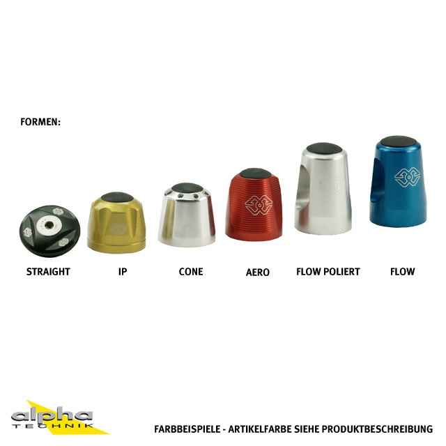 Lenkergewichte-Paar aus Aluminium IP-22-BL