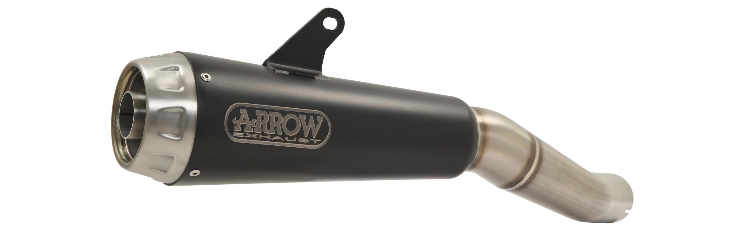 ARROW Auspuff DARK PRO-RACE für Kawasaki Z650 / Ninja 650 2017-, Edelstahl schwarz (Nur mit ARROW Krümmer)
