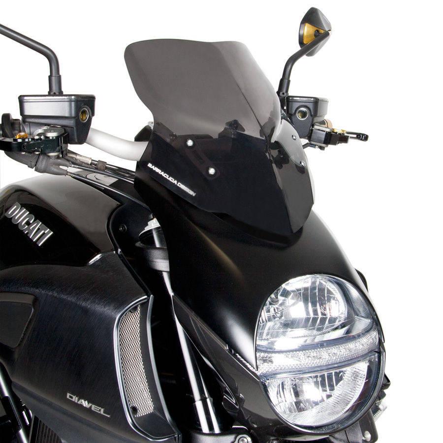 Barracuda Windschild Aerosport Plexiglas für Ducati Diavel 2014-