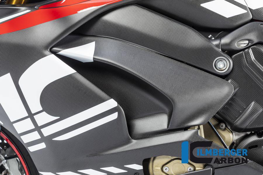 Ilmberger Carbon Abdeckung unterm Rahmen links matt für Ducati Panigale V4 / V4S ab 2018