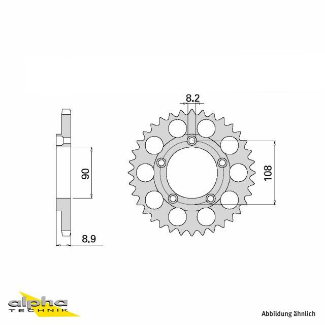 Alu Kettenrad Ducati,  Z-41