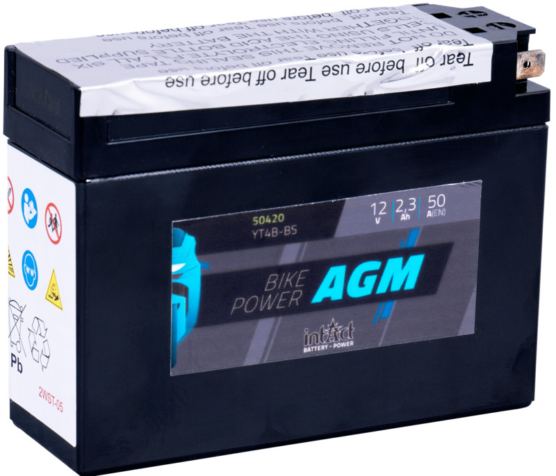Intact AGM Batterie  YT4B-BS