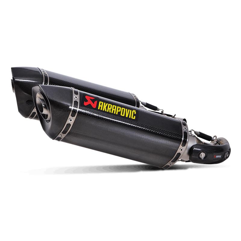 Akrapovic Slip-On Line (Carbon) Auspuff für Ducati Monster 1100/1100S 2009-2010, Monster 696 2008-2014, Monster 796/795 2010-2014