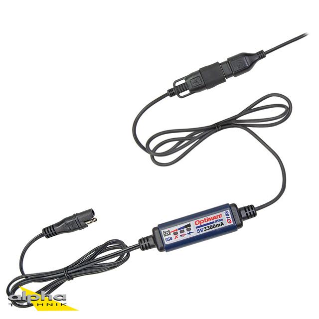 OPTIMATE USB O-108 3300mA USB-Ladegerät SAE