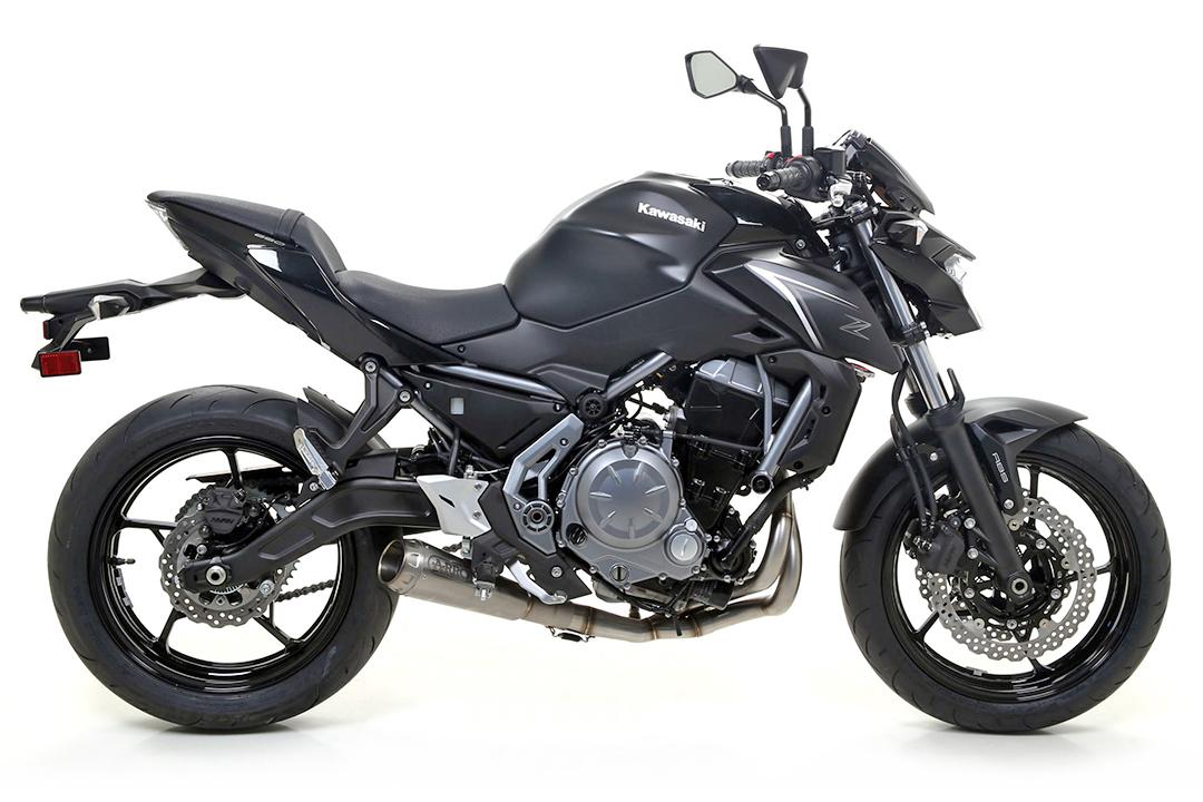 ARROW Auspuff PRO-RACE für Kawasaki Z650 / Ninja 650 / Versys 650 2017-, Titan (Nur mit ARROW Krümmer)