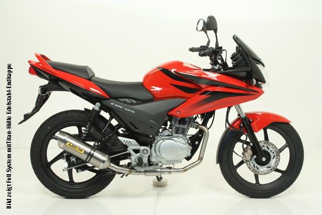 ARROW Auspuff THUNDER für Honda CBF125 2009-2014, Aluminium (Nur für ARROW Krümmer)