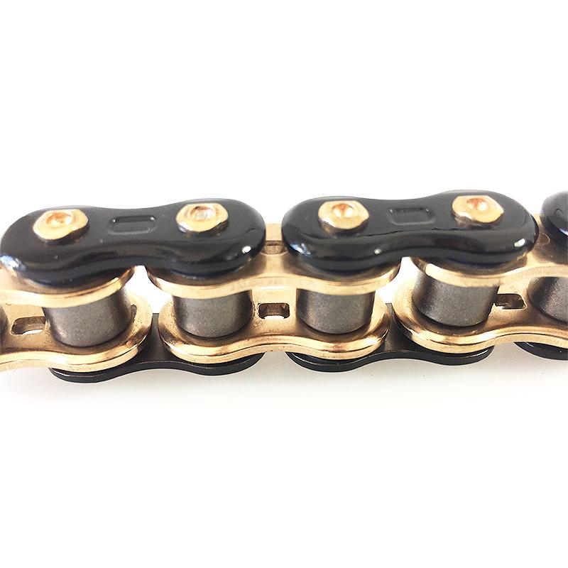 EK 525 Z ThreeD QX2 X-Ring Premium Kette - 110 Glieder - Gold Schwarz