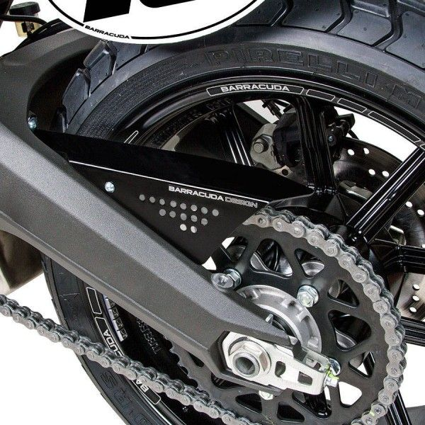 Barracuda Motorrad Kettenschutz Ducati Scrambler 2015-2017 schwarz