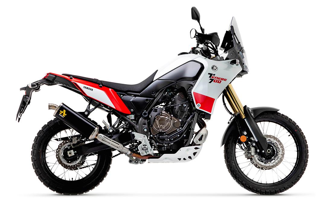 ARROW Auspuff DARK INDY RACE Aluminium schwarz mit Titan-Endkappe für Yamaha Ténéré 700 ab Modelljahr 2019-