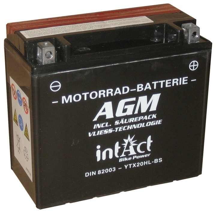 Intact AGM Batterie  YTX20HL-BS