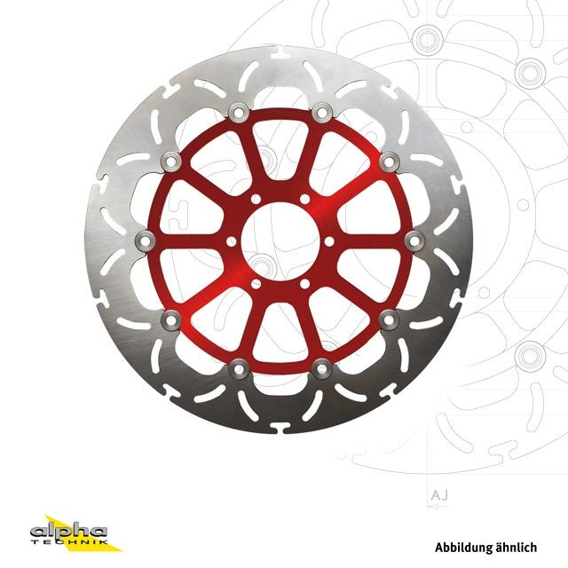 alpha Technik Bremsscheibe ABD33 rot für diverse Triumph Modelle