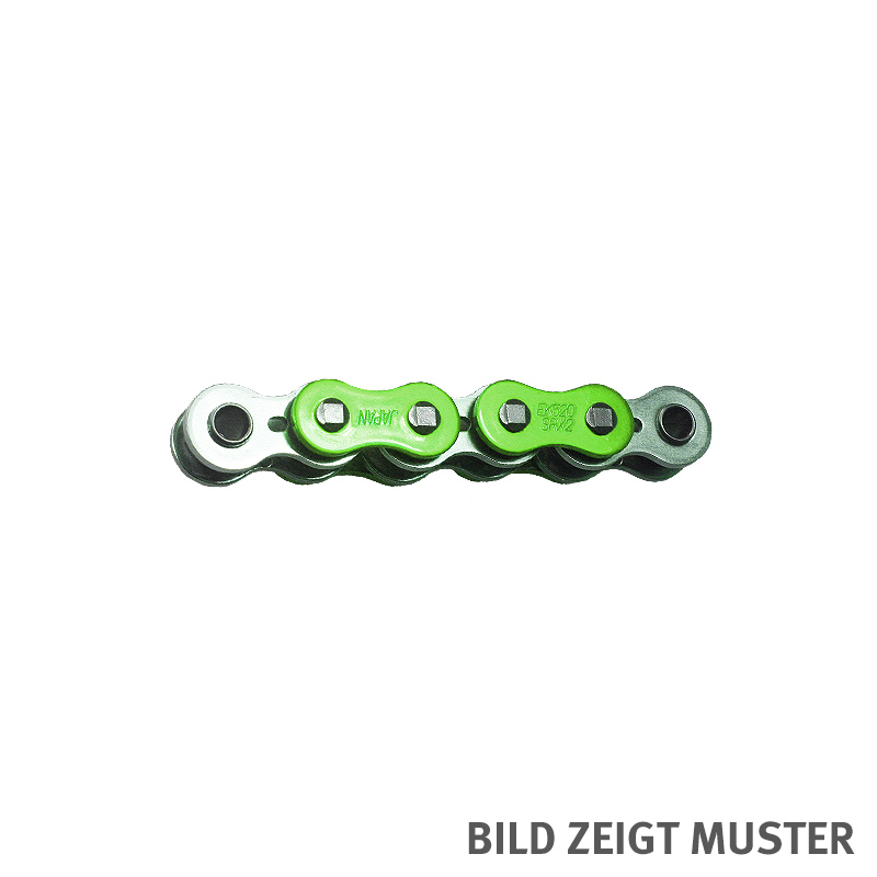 Kette ENUMA MVXZ-2 525, ideale OEM-Ersatzkette - 600 Glieder - Farbe Grün metallic