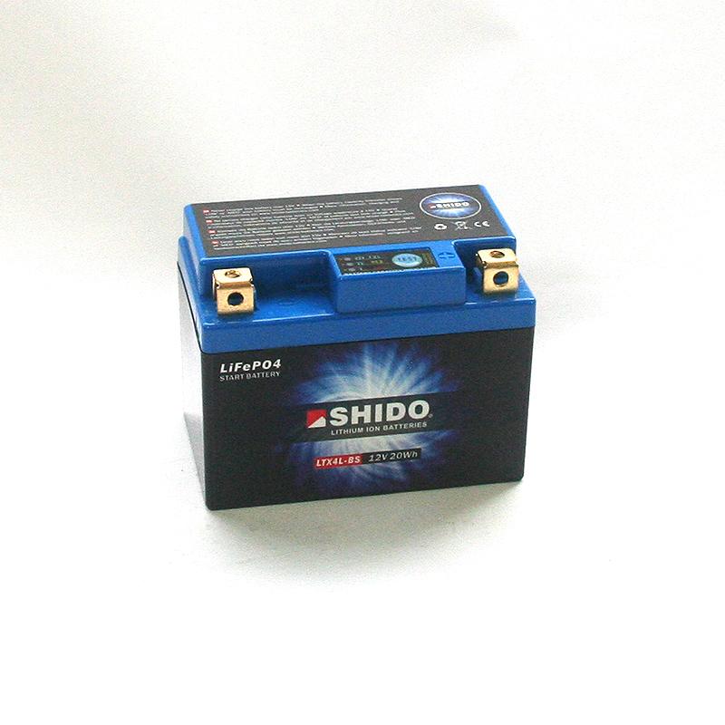 SHIDO Lithium-Batterie LTX4L-BS-Li