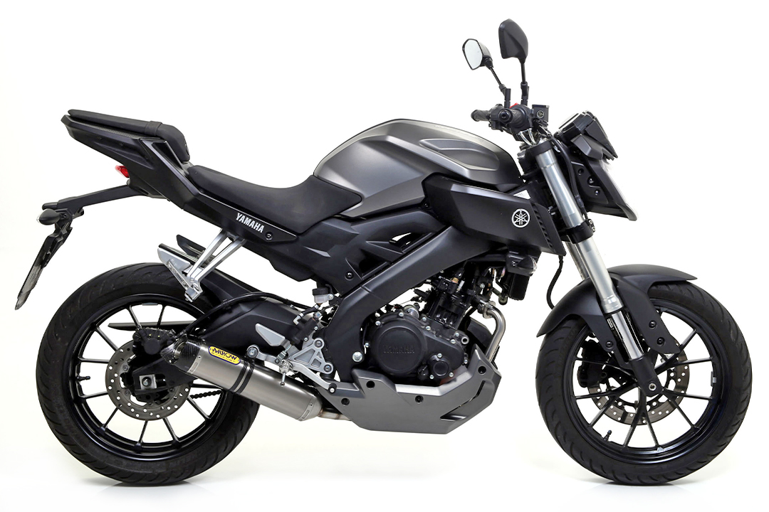 ARROW Auspuff THUNDER für Yamaha MT125 2014-, Titan (Nur mit ARROW Krümmer)