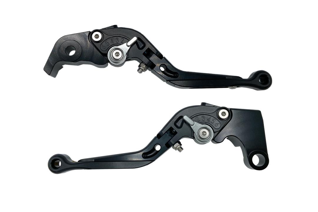 Hebel Set EVO schwarz, für Kawasaki Versys 1000 2012- , Z1000 2003- , ZX10R 2004- , ZX12R 2000- , ZX6R 2000- , ZX9R 2000- , ZZR600 2005-