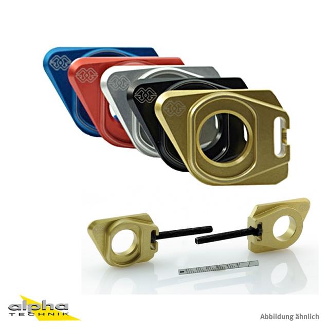 GILLES Achsblock Suzuki GSXR600/750/GSR750 silber