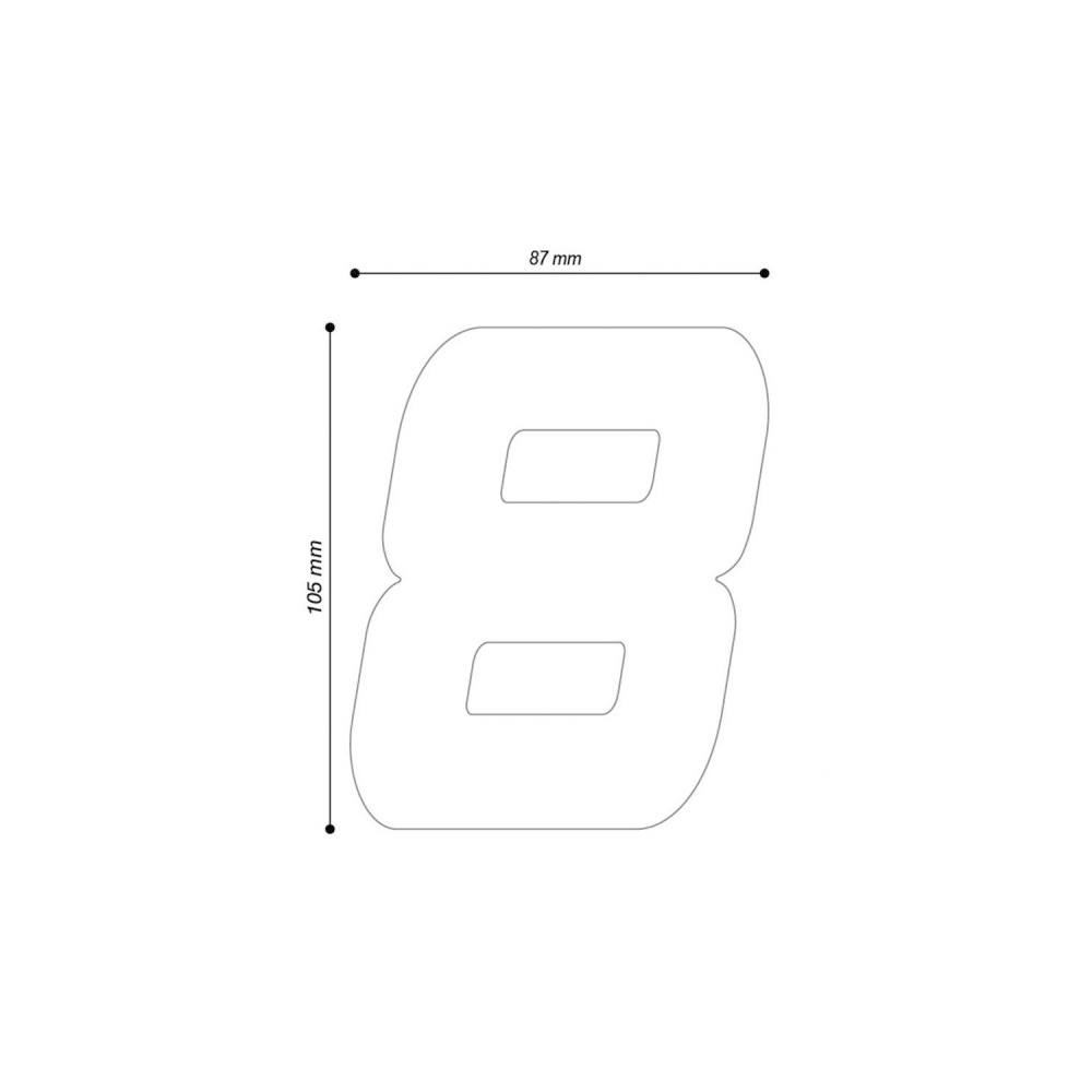 "Barracuda Startnummern Aufkleber ""1"""